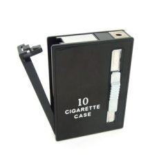 Cigaretta tartó - Stílusos doboz, beépített öngyújtóval!