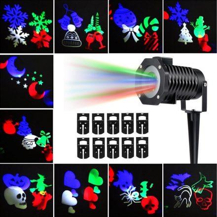 Kültéri Projektor Lámpa + 12 Db Cserélhető Kártya