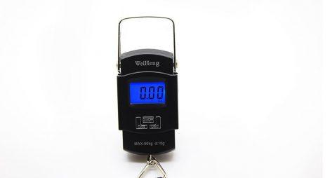 Digitális Kézi Mérleg Fekete 50kg-ig