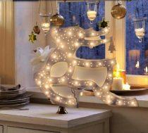 Karácsonyi LED ablakdísz