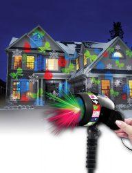 LED-es fénydekoráció mozgó képekkel