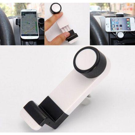 Levegő befújó rácsra -szellőzőre csíptethető autós telefontartó - gombos