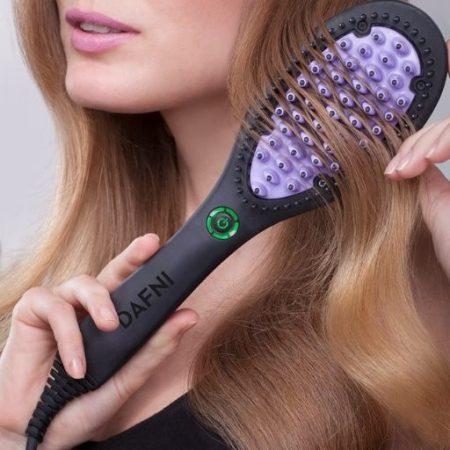 Dafni elektromos hajkiegyenesítő hajformázó hajkefe