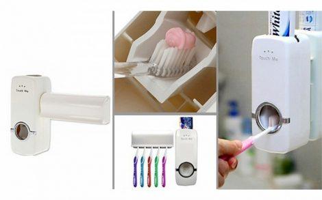 Automata fogkrém adagoló, fogkefetartóval-Az egész családnak