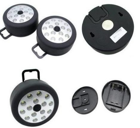 15 SMD Ledes mágneses, felakasztható lámpa steklámpa