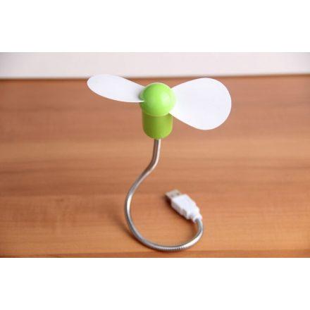 Hajlítható szárú USB-s mini ventilátor