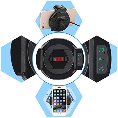 Bluetooth kihangosító, telefontartó és töltő egyben