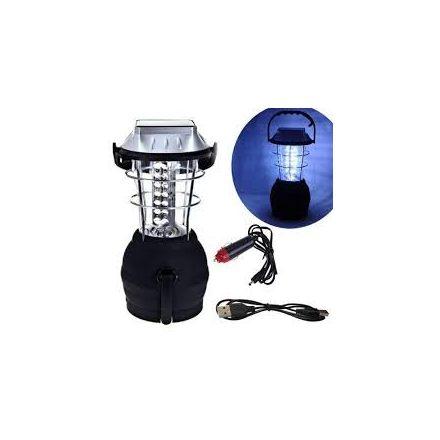 Super fényes 36 LED Akkumulátoros, elemes, dinamós, Solar kemping lámpa
