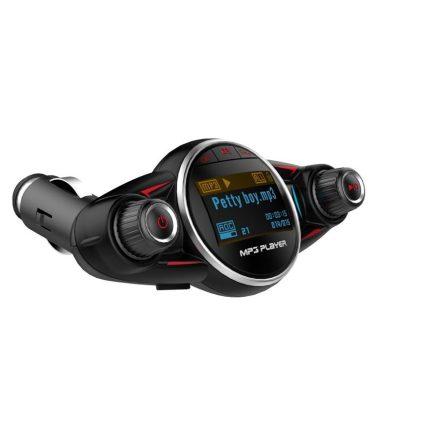 BT08 Autós Vezetéknélküli Bluetooth FM Transzmitter - Fekete