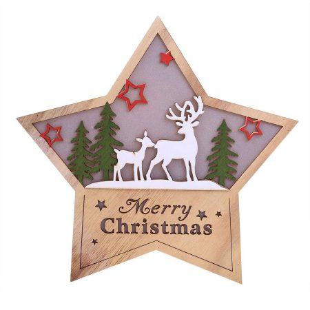 Karácsonyi LED fa asztali dísz csillag világítás