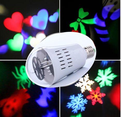 RGB Led Karácsonyi Izzó E27 Foglalattal