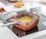 Copper pan szögletes serpenyő