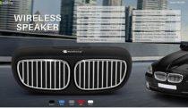 Autóhűtőrács alakú Bluetooth hangszóró