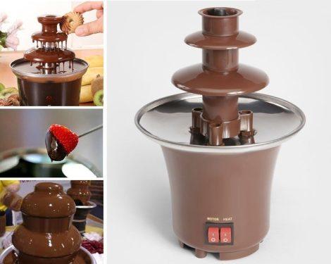 Emeletes csokoládé szökőkút
