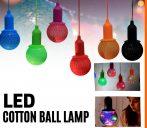 Dekoratív PAMUT LED hangulat lámpa
