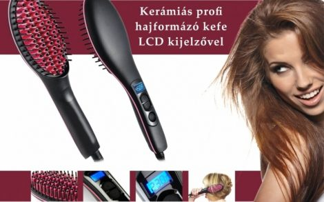 Forradalmi hajegyenesítő fésű és kefe - Kíméletes kerámia simítókefével!