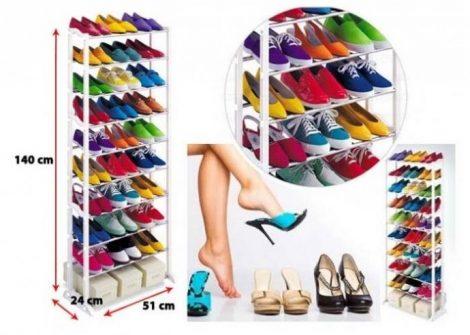 10 soros cipőtároló