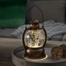 Karácsonyi lámpás mozgó, szálló csillámmal