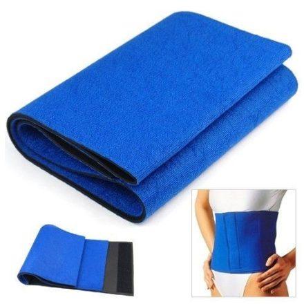 Fogyasztó, melegítő öv neoprén anyagból (állítható méret) - ideális derékfájdalmak esetén és zsírégetéshez